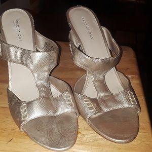 Size 12 Light Gold Slide In Heel